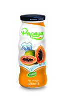 300ml Papaya Drink in Glass Bottle