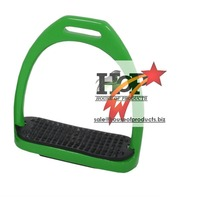 Green Coloured Aluminium Stirrups horse stirrups saddle stirrups