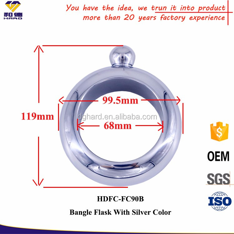 Dongguan Supplier Stainless Steel hidden bracelet flask