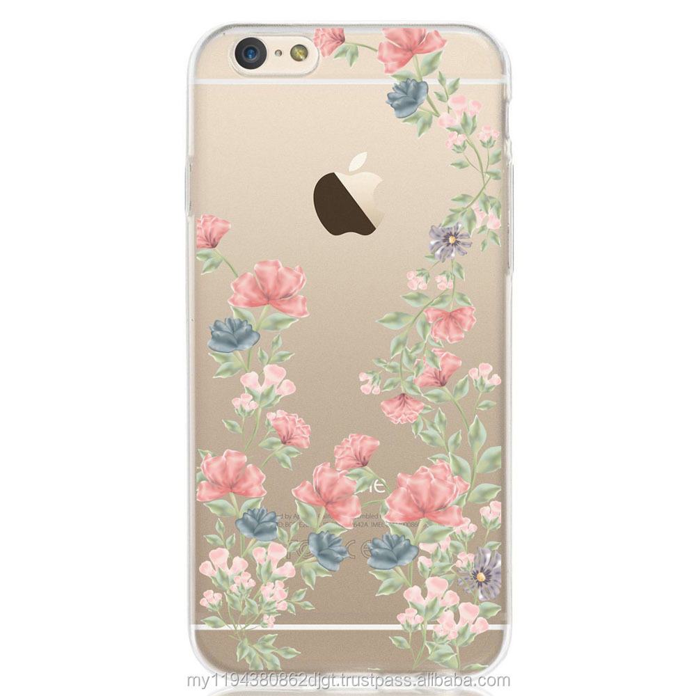 Printed Flower Patterned Design Soft cover TPU case