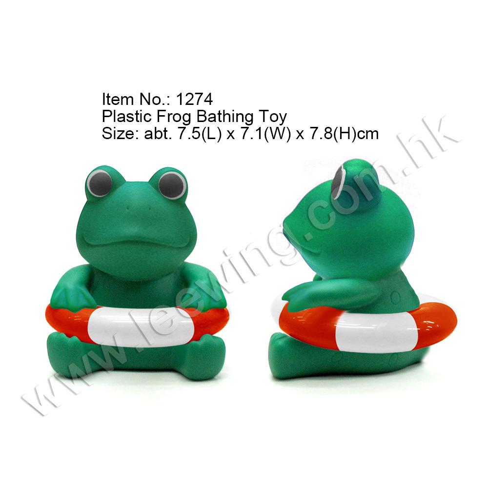 Eco Friendly Soft Plastic Funny Frog Floating Bath Toy - Buy ...