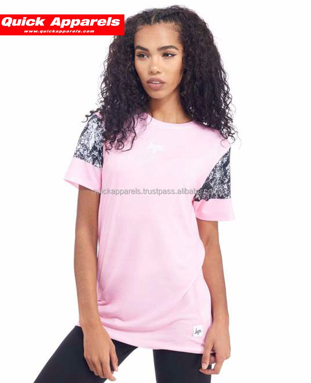 2017 custom wholesale stripe Women's Short Sleeve Crew neck t shirts wholesale