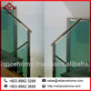 Stainless Steel/Wooden Handrail Glass Staircase