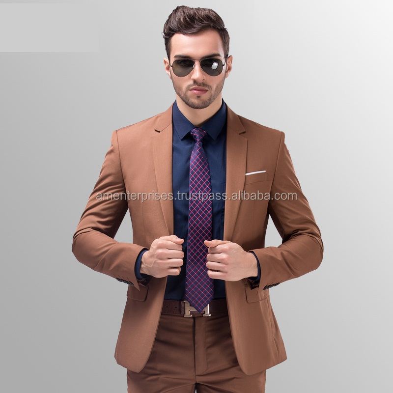 top brand business mens suit - Wholesale Cheap Mens Suits 2016 - 2016 Fashion Style Two Buttons Three Piece Set Men's Suit