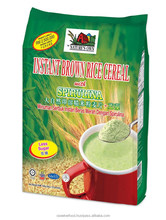 Instant Brown Rice Cereal with Spirulina (Less Sugar), High In Protein, Is Also A Good Surce Of Antioxidants
