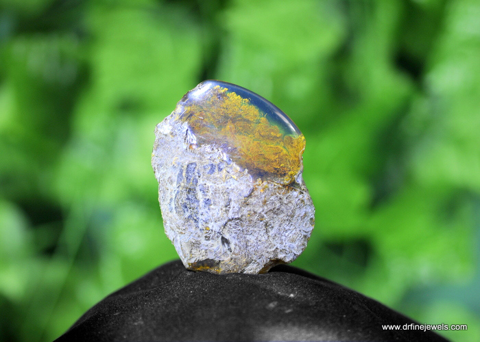 Very Clear Dominican light Blue Amber Stone.