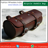 100% Genuine leather Saddle Bag For Bicycle Dark Chry Color