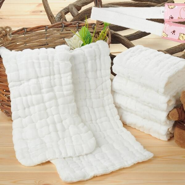 Bamboo Muslin Swaddling Blanket Cloth 120x120cm washed