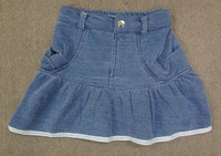 Kids Skirt - Knit Denim - Stretchable Waistband & Gathers