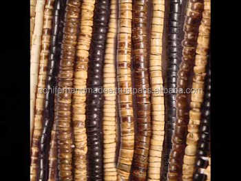 custom made handmade coconut beads with holes suitable for jewelry manufacturers and bead stores