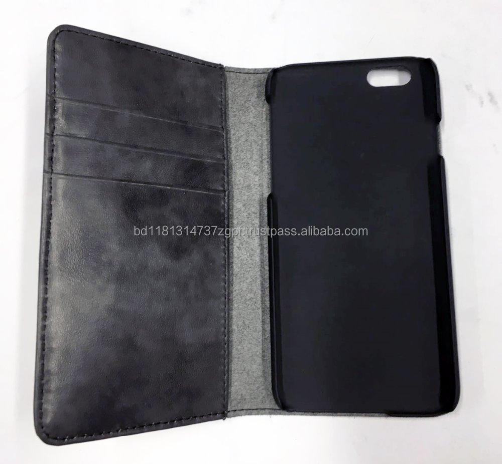 genuine leather flip phone case for smart phone 6, 6S
