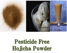 """Pesticide Free Hojicha Powder"" GREEN TEA : Organic Fist Flush Loose Leaf Teas made in Japan"