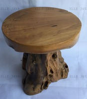 Hot Sale Teak Root Furniture Round Stool