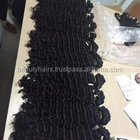 VIETNAMESE DEEP CURLY HAIR MACHINE WEFT HAIR/NO TANGLE/NO SHEDDING / FCTORY PRICE