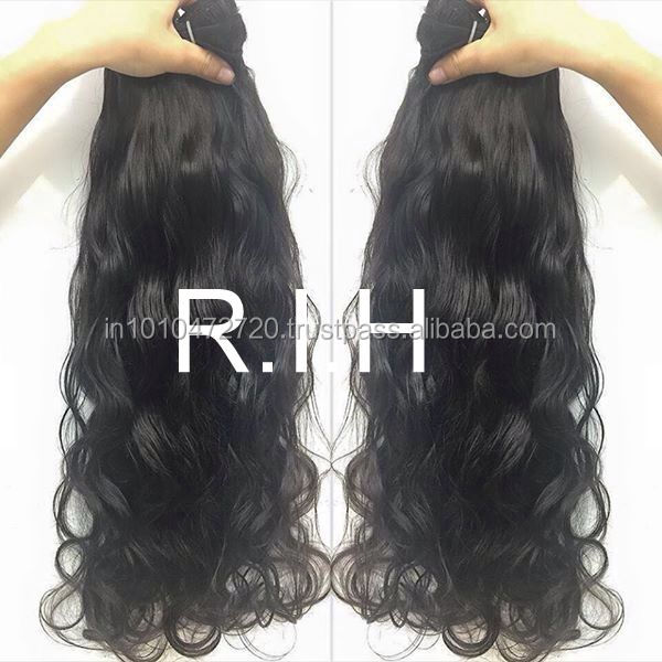 Top quality unprocessed virgin Malaysian hair natural wavy products