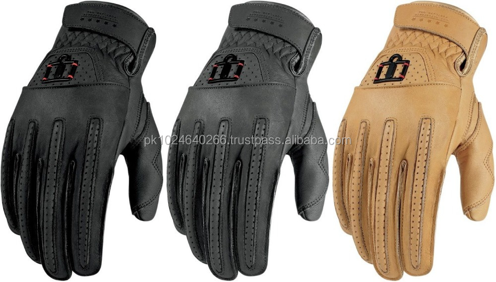 Leather Street Motorcycle Riding Gloves Mens All Color & Sizes