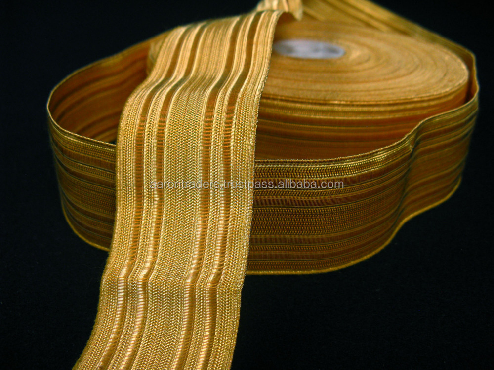 gold braid for military uniform/size 6mm to 40mm