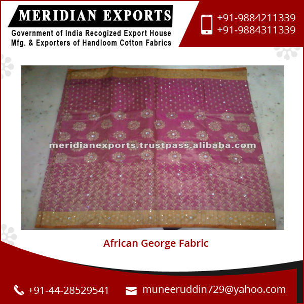 Standard Material Good in Quality African George Lace Fabric Price