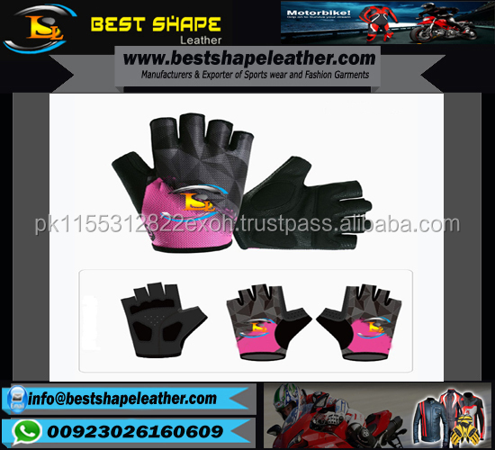 2017 Summer Half Finger Professional Palm Gel Padded Custom Outdoor Sports Cycling Gloves