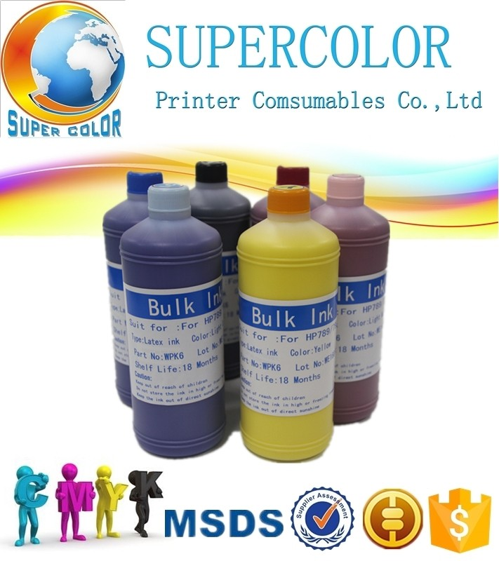 Supercolor 792 789 786 831 para HP tinta Látex L25500 L26500 L28500 L2610 300 310 330 360 370 printer