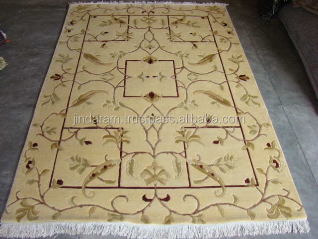 Household pure silk carpets