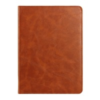 New Crazy Horse Texture Smart Genuine Cowhide Leather Cover for iPad 4,Rubberized Crazy Horse Smart case for ipad 4