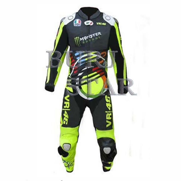 Custom Leather Motorcycle Racing Suit , Full Safety Motorbike Racing Suit - Cowhide Leather