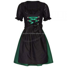 3pcs Black Apron Dirndl Custom Design Trachten Oktoberfest Bavarian Traditional Dirndl For Women (Traditional Dress)