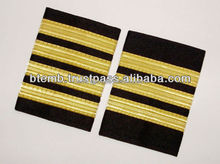 Pilot Epaulettes | Airline Epaulettes | Pilot Uniform Epaulettes with Gold Wire French Braids