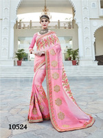 Factory Price Heavy Embroided Gerogette Sarees for Women - Indian designer sarees online - Wholesale Sarees Online