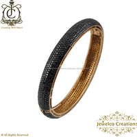 14k Yellow Gold Black Diamond Bracelets 92.5 Women Bracelet, wholesale Handmade Bracelet Jewelry