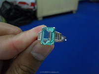 Emerald silver ring and the price is US$ 2999 + Free Shipping cost
