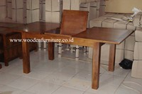Indonesia Teak Wood Solid Teak Wood Table Teak Indoor Furniture Minimalist Dining Room Modern Home Furniture