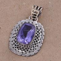 Wholesale 925 Sterling Silver Alexandrite Pendant Fancy Jewelry
