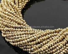 Gold Pyrite Beads Material Natural Stone Beads Semi Precious Beads