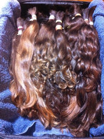 Beautiful curly virgin russian human hair