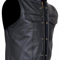 Men S Leather Vest Anarchy Motorcycle