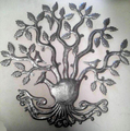 Tree of Life with Birds and Leaves Caribbean Decor Steel Art Metal Wall Artwork Haitian Handicrafts Port Au Prince Haiti 60cm