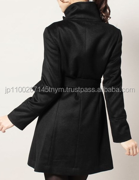 Reliable popular world-famous cashmere black trench coat for women