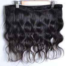 Indian human hair extensions clip on one piece