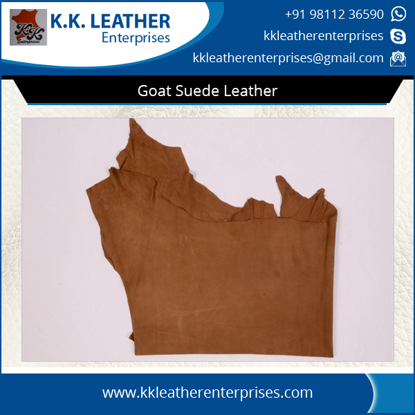 Vibrant Colors Goat Suede Genuine Leather for Bulk Buyers