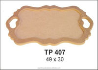 TP407 Non-painted wooden MDF tray for hobby painting