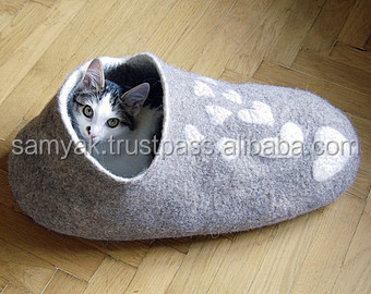 Best Selling Eco-friendly Shoe Design Warm Felt Pet Cave