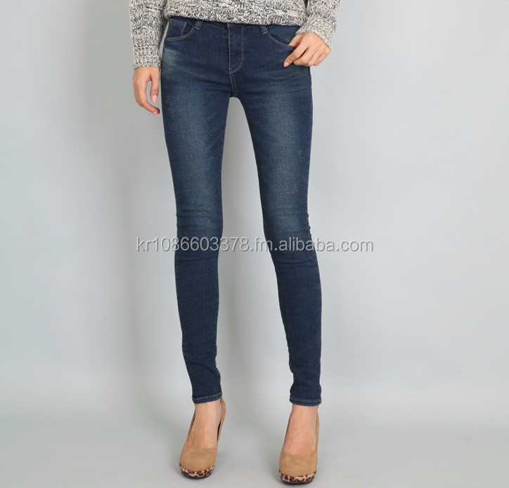 Women's cat-wasching Skinny jeans _ Made in Korea # the latest style apparel Occasion: Casual