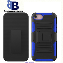 Hot Sell 3 in 1 Siper Combo case with Belt Clip Holster, Rugged Hybrid Hard Duty Case,For iPhone 7 holster
