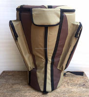 African Djembe Drums Gig Bags Nylon Pro Beige-Brown