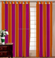 NEW STYLE OF COTTON STRIPE CURTAIN /