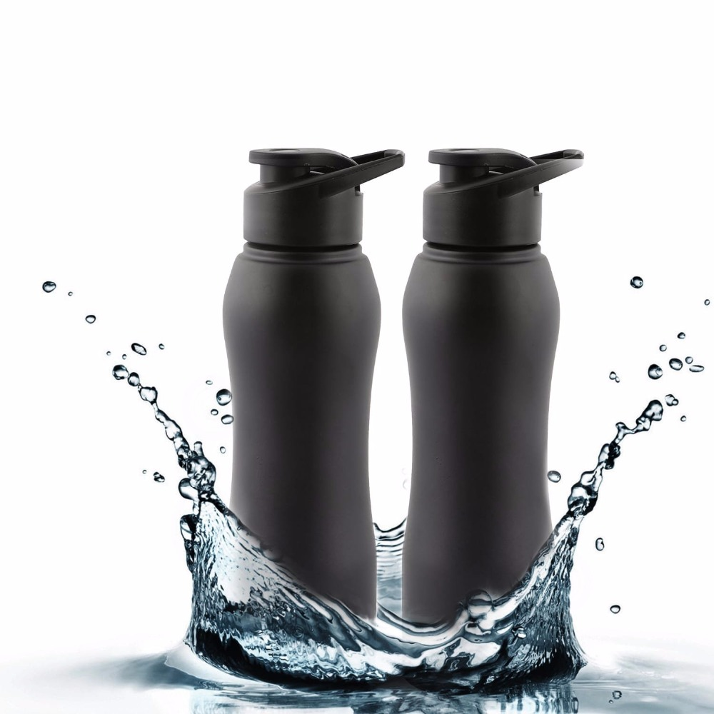 Matt Stainless Steel Fridge Water Bottle Ideal to store water & other beverages Pack-2, 1000 ml