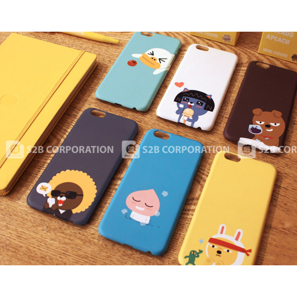 00739 For Galaxy S7 edge/S7/S6 edge Plus/S6 edge/S6/S5_Kakao Friends Hard_Smart Cellular Mobile Phone Case Cover