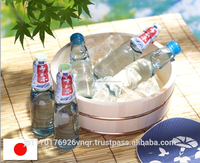 Traditional refreshing ramune carbonated drink cider bottle
